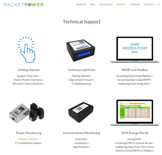 Packet Power Support